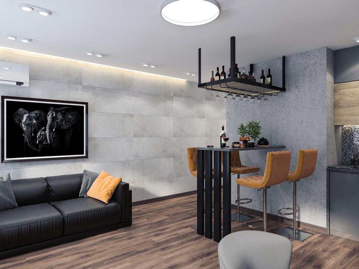 Дизайн-проект квартиры в loft стиле от дизайнера интерьеров в Киеве